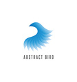 Bird log gradient blue style abstract winged idea vector image vector image