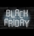 black friday sale neon electric letters on black vector image
