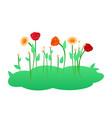 blooming flowers flat vector image vector image