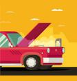 broken car cartoon flat vector image