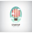 business start up logo Flying air ballon vector image