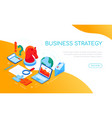business strategy concept - modern colorful vector image