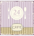Cafe shop vintage retro template vector image