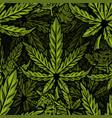 cannabis seamless pattern print design vector image