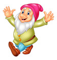 cartoon happy dwarf vector image vector image