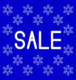 christmas and new year sale blue background vector image vector image