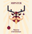christmas deer hipster vector image