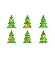 collection of christmas trees-cone set modern vector image