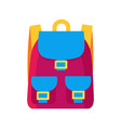 colorful childish backpack vector image vector image