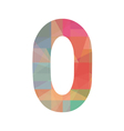 Colorful number zero vector image