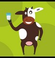 cow with milk vector image