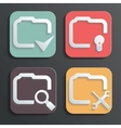 Design folder icons for Web and Mobile vector image vector image