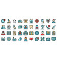 family health clinic icons flat vector image vector image