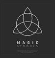 flat style of magical symbol vector image vector image