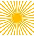Flat Yellow sun vector image