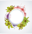 floral round frame with lilies and roses in vector image vector image