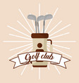 golf club on bag banner card vector image vector image