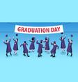 graduation day horizontal composition vector image