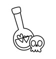 happy halloween celebration scary skull and potion vector image vector image