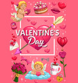 heart with love arrow of cupid valentines day vector image vector image