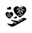 honeymoon black glyph icon vector image vector image