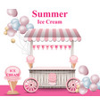 ice cream stand with balloons summer vector image vector image