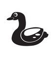 isolated rubber duck toy icon vector image vector image