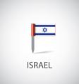 Israel flag pin vector image vector image