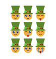 leprechauns emoticons emojis characters for st vector image