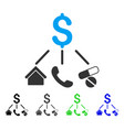 life expenses flat icon vector image vector image