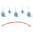 merry christmas and happy new year card - evil eye vector image vector image