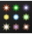 Nine colorful stars set vector image vector image