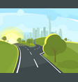 panoramic urban landscape vector image