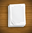 Paper sheet icons vector image vector image