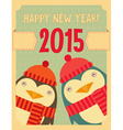 penguin new year vector image vector image