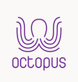 purple octopus logo vector image