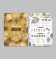 restaurant christmas holiday menu design vector image vector image