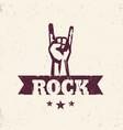 rock sign hand-horn rock-concert gesture vector image vector image