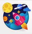 rocket launchship concept of vector image