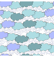 Seamless wallpaper with clouds vector image vector image