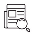 search icon paper information content thin line vector image vector image