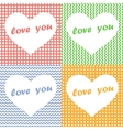 Set of four Valentines Day Hearts vector image vector image