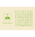 Set of jurisprudence simple icons vector image