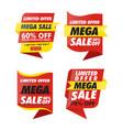 sets banner sale vector image vector image
