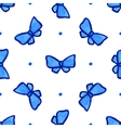 Sky blue seamless pattern with bow vector image
