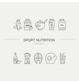 Sport Diet Products vector image vector image