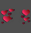 stickers flat lay arrangement hearts for mock vector image