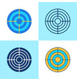 target icon set in flat and line style vector image