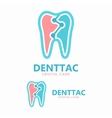 Tooth logo template vector image vector image