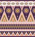 tribal geometric seamless pattern vector image vector image